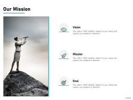 Our Mission Vision Goal L744 Ppt Powerpoint Presentation Pictures Outfit