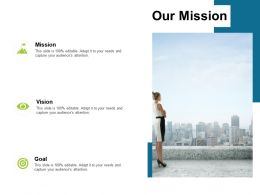 Our Mission Vision Goal L80 Ppt Powerpoint Presentation Styles Skills
