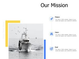 Our Mission Vision Goal Mission K344 Ppt Powerpoint Presentation Slides