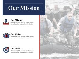Our Mission Vision Goal Ppt Powerpoint Presentation File Example