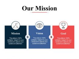 Our Mission Vision Goal Ppt Powerpoint Presentation File Ideas