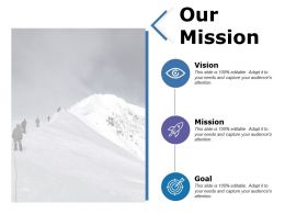 Our Mission Vision Goal Ppt Powerpoint Presentation File Samples