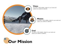 Our Mission Vision Goal Ppt Powerpoint Presentation Icon Layout