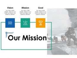 Our Mission Vision Goal Ppt Powerpoint Presentation Infographic Template