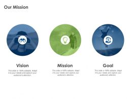 Our Mission Vision Goal Ppt Powerpoint Presentation Infographics Deck