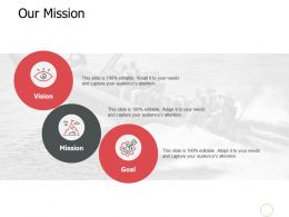 Our Mission Vision Goal Ppt Powerpoint Presentation Model Deck