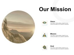 Our Mission Vision Goal Ppt Powerpoint Presentation Pictures Slide