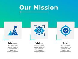 Our Mission Vision Goal Ppt Powerpoint Presentation Portfolio Maker