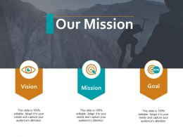 Our Mission Vision Goal Ppt Powerpoint Presentation Visual Aids Deck