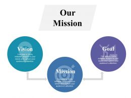 Our Mission Vision Goal Ppt Professional Objects
