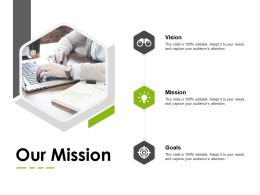 Our Mission Vision Goals E60 Ppt Powerpoint Presentation Infographics Ideas