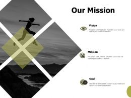 Our Mission Vision Goals F146 Ppt Powerpoint Presentation Portfolio Elements