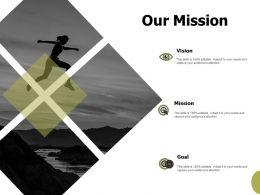 Our Mission Vision Goals F146 Ppt Powerpoint Presentation Portfolio Elements