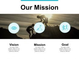 Our Mission Vision Goals F209 Ppt Powerpoint Presentation Portfolio Design