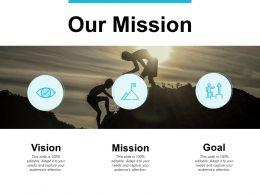 Our Mission Vision Goals F209 Ppt Powerpoint Presentation Portfolio Design
