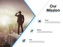 Our Mission Vision Goals F235 Ppt Powerpoint Presentation Pictures Objects