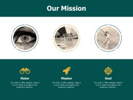 Our Mission Vision Goals F681 Ppt Powerpoint Presentation Portfolio Slide