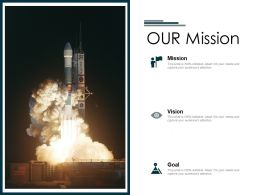 Our Mission Vision Goals F810 Ppt Powerpoint Presentation Show Ideas