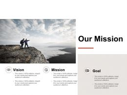 Our Mission Vision Goals L109 Ppt Powerpoint Presentation Slides Examples