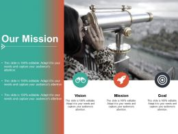 Our Mission Vision I101 Ppt Powerpoint Presentation Visual Aids Example 2015
