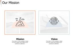Our Mission Vision I282 Ppt Powerpoint Presentation Template Infographic