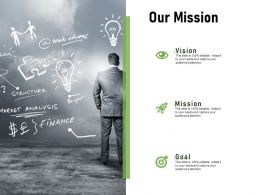 Our Mission Vision I430 Ppt Powerpoint Presentation Portfolio Outfit