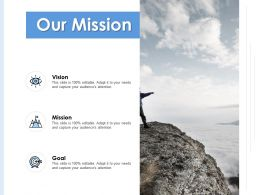 Our Mission Vision K112 Ppt Powerpoint Presentation File Background