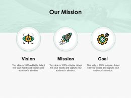 Our Mission Vision L282 Ppt Powerpoint Example