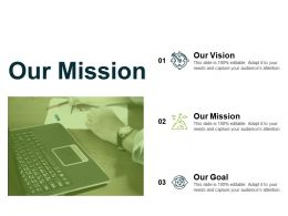 Our Mission Vision L296 Ppt Powerpoint Presentation Design Templates
