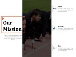 Our Mission Vision Mission Goal Ppt Powerpoint Presentation Diagram Templates