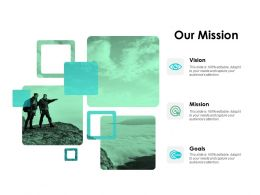 Our Mission Vision Mission Goals H145 Ppt Powerpoint Presentation Professional Sample