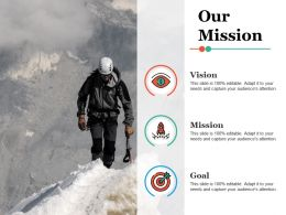 Our Mission Vision Ppt Infographic Template Demonstration