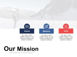 Our Mission Vision Ppt Inspiration Design Inspiration