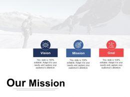 Our Mission Vision Ppt Inspiration Design Inspiration