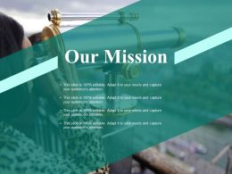 Our Mission Vision Ppt Powerpoint Presentation File Deck