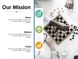 Our Mission Vision Ppt Powerpoint Presentation File Icon