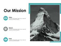 Our Mission Vision Ppt Powerpoint Presentation Icon Designs Download