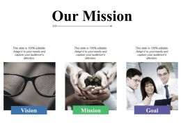Our Mission Vision Ppt Powerpoint Presentation Layouts Gridlines