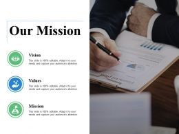 Our Mission Vision Ppt Visual Aids Background Images