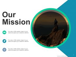 Our Mission Vision Target C372 Ppt Powerpoint Presentation Slides Layout Ideas