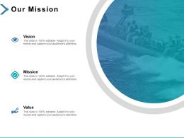 Our Mission Vision Value K370 Ppt Powerpoint Presentation Icon Infographics