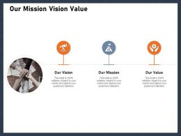 Our Mission Vision Value M2884 Ppt Powerpoint Presentation Professional Information