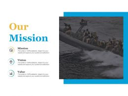 Our Mission Vision Value Ppt Infographics Example Introduction