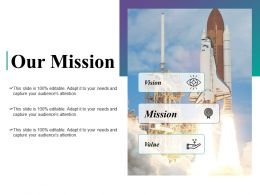 Our Mission Vision Value Ppt Powerpoint Presentation File Diagrams