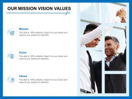 Our Mission Vision Values Adapt M394 Ppt Powerpoint Presentation Ideas Gallery
