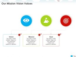 Our Mission Vision Values Capture M1119 Ppt Powerpoint Presentation Styles Format