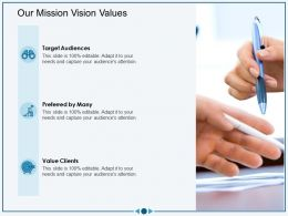 Our Mission Vision Values M3031 Ppt Powerpoint Presentation Slides Icons