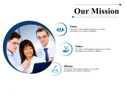 Our Mission Vision Values Ppt Powerpoint Presentation File Visuals
