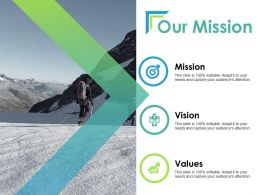 Our Mission Vision Values Ppt Powerpoint Presentation Layouts Samples