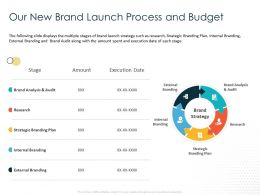 Our New Brand Launch Process And Budget Audit Ppt Powerpoint Presentation Ideas Design Inspiration